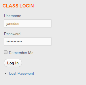 class login
